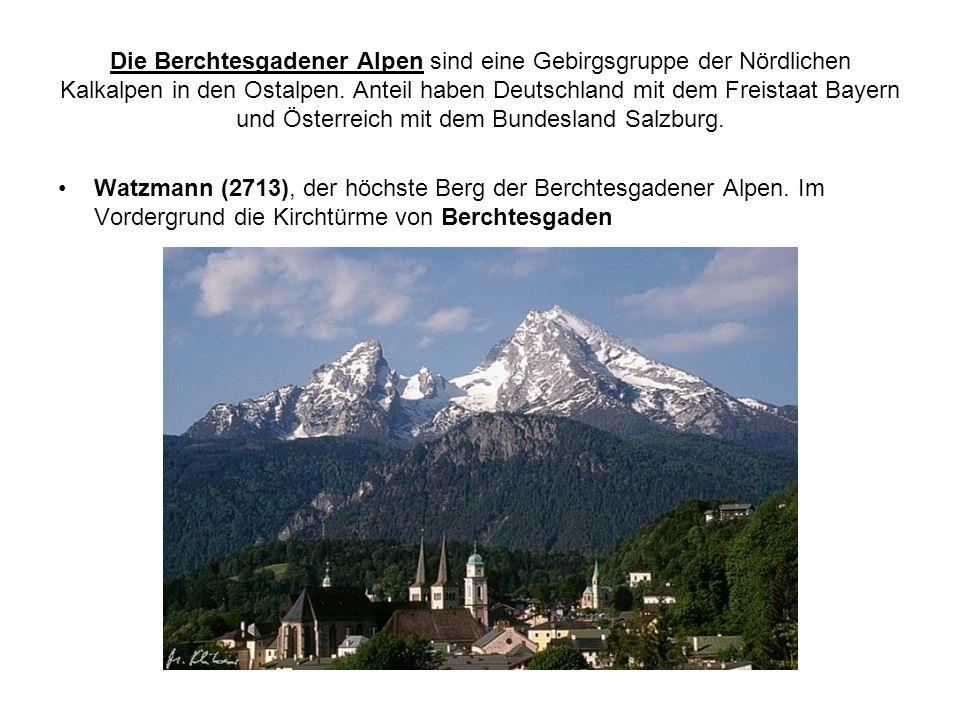 Die Berchtesgadener Alpen sind eine Gebirgsgruppe der Nördlichen Kalkalpen in den Ostalpen.