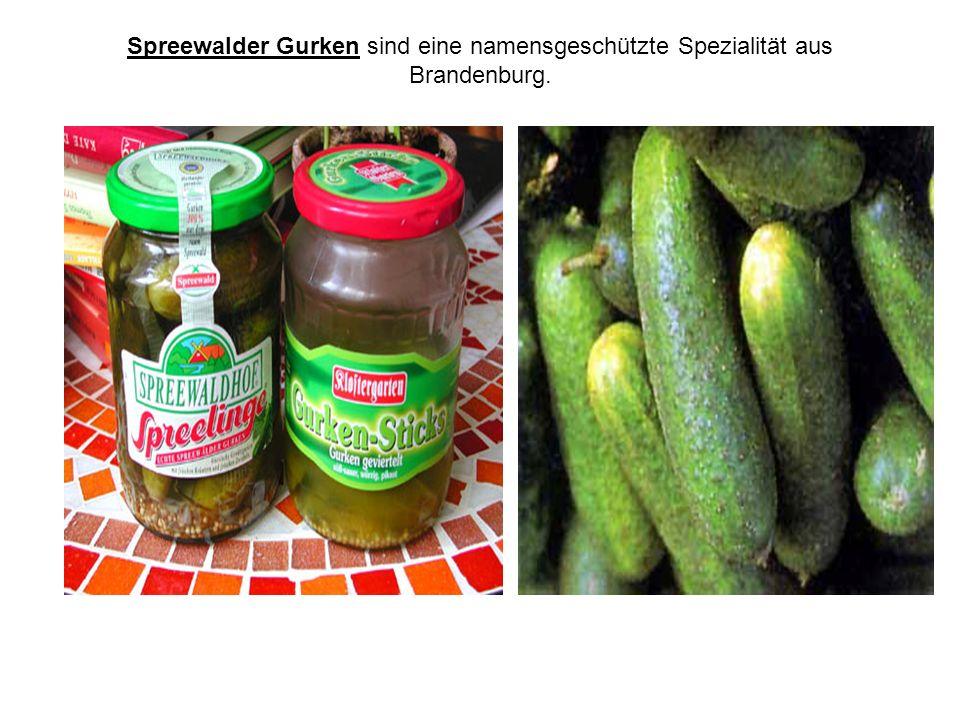 Spreewalder Gurken sind eine namensgeschützte Spezialität aus Brandenburg.