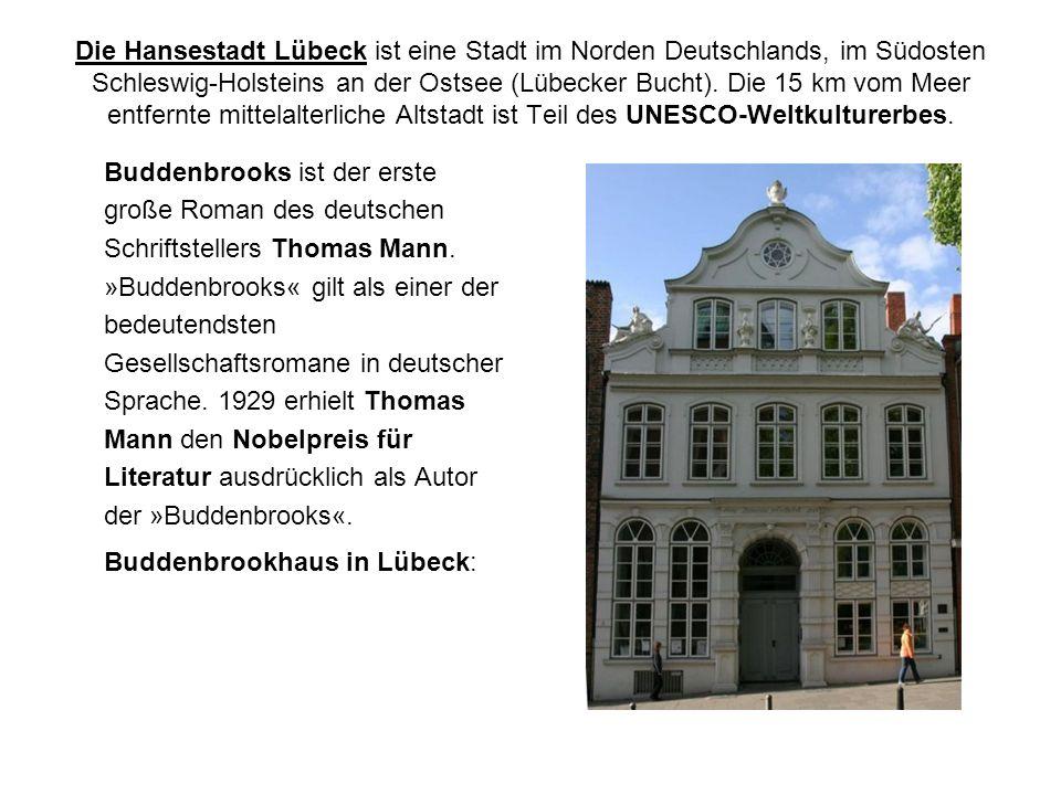 Die Hansestadt Lübeck ist eine Stadt im Norden Deutschlands, im Südosten Schleswig-Holsteins an der Ostsee (Lübecker Bucht).