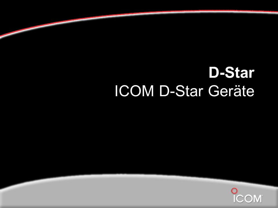 D-Star ICOM D-Star Geräte