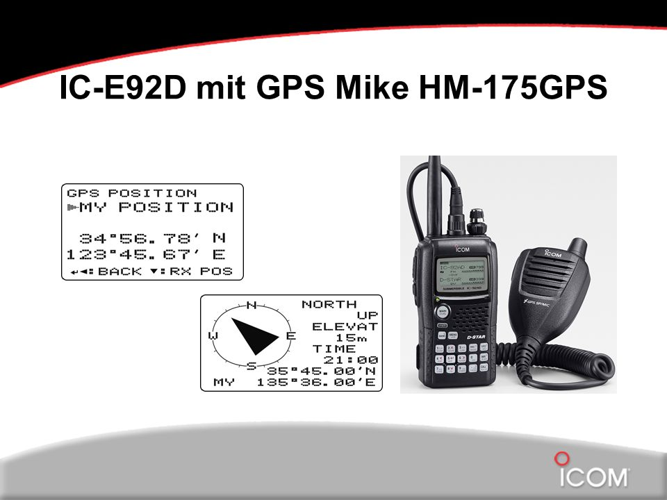 IC-E92D mit GPS Mike HM-175GPS