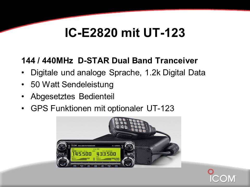 IC-E2820 mit UT-123 144 / 440MHz D-STAR Dual Band Tranceiver Digitale und analoge Sprache, 1.2k Digital Data 50 Watt Sendeleistung Abgesetztes Bedient