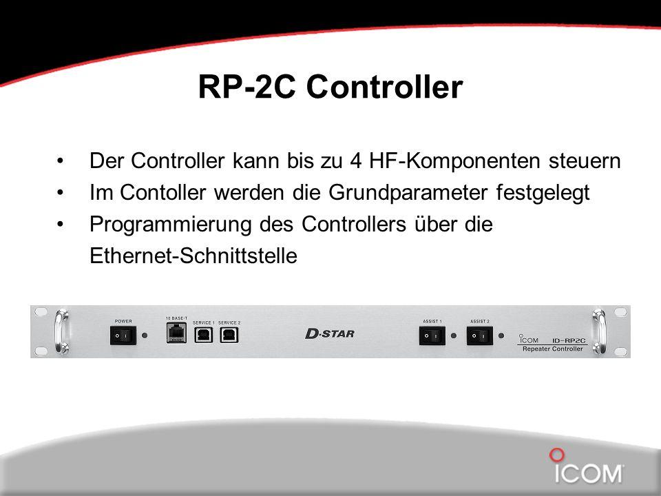 RP-2C Controller Der Controller kann bis zu 4 HF-Komponenten steuern Im Contoller werden die Grundparameter festgelegt Programmierung des Controllers