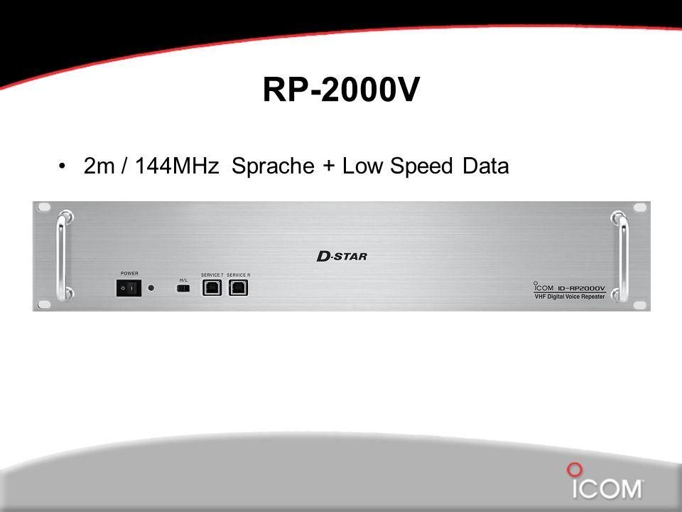 RP-2000V 2m / 144MHz Sprache + Low Speed Data