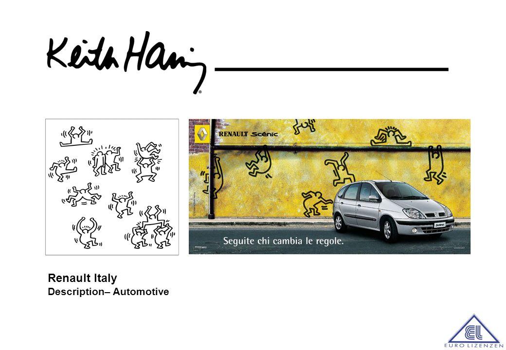 Haring-Motive wurden zudem f ü r Werbekampagnen von Honda, Absolut, sowie Renault, Danone und Ericsson eingesetzt.