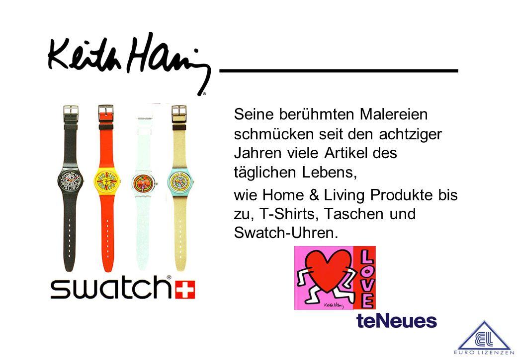 ________ Im Jahr 1989, kurz vor seinem Tod, wurde die Keith Haring Foundation ins Leben gerufen. Diese setzt sich für wohltätige Zwecke ein, so zum Be