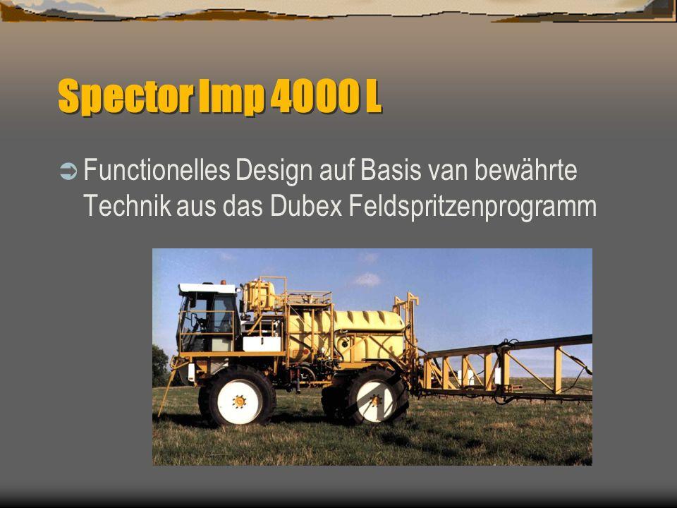 Algemeine information Dubex Selbstfahrer IMP, eine gelungene Kombination von Fahrzeugtechnik und Spritztechnik Lieferbar mit motoren von 125-195 Hp Be