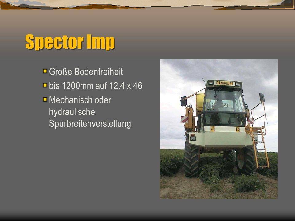 Spector Imp 4000 L Functionelles Design auf Basis van bewährte Technik aus das Dubex Feldspritzenprogramm