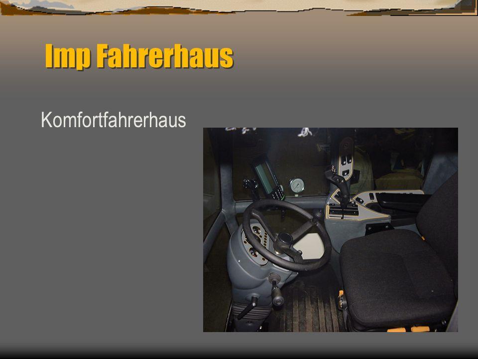 Spector Imp Fahrerhaus Neues Fahrerhaus Ergonomisch Komfort Klima Gefederte Fahrersitz Beifahrersitz Rundum Aussicht