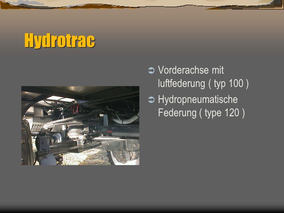 Hydrotrac Alradlenkung Hinterachsfederung Automatische Mittelstellung