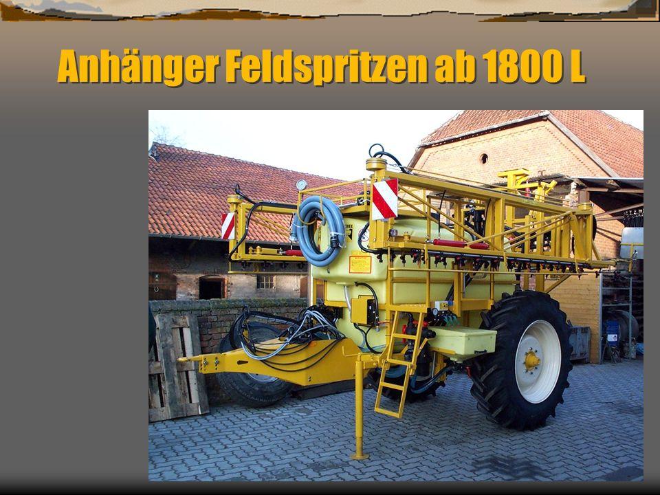 Dynamische Belagsverteilung bei Anhänge-Feldspritzgeräten mit 27 m Arbeitsbreite