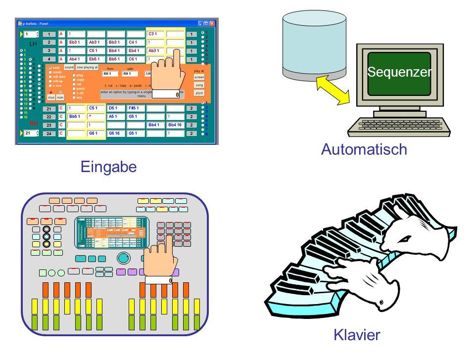 Eingabe Automatisch Sequenzer Klavier