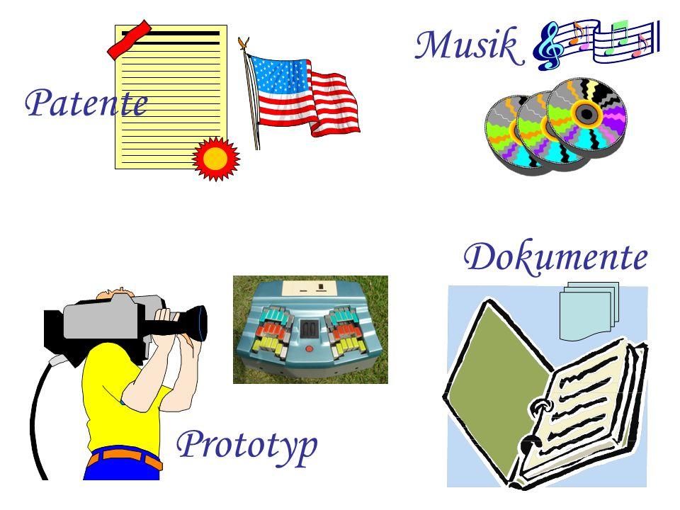 Patente Dokumente Prototyp Musik
