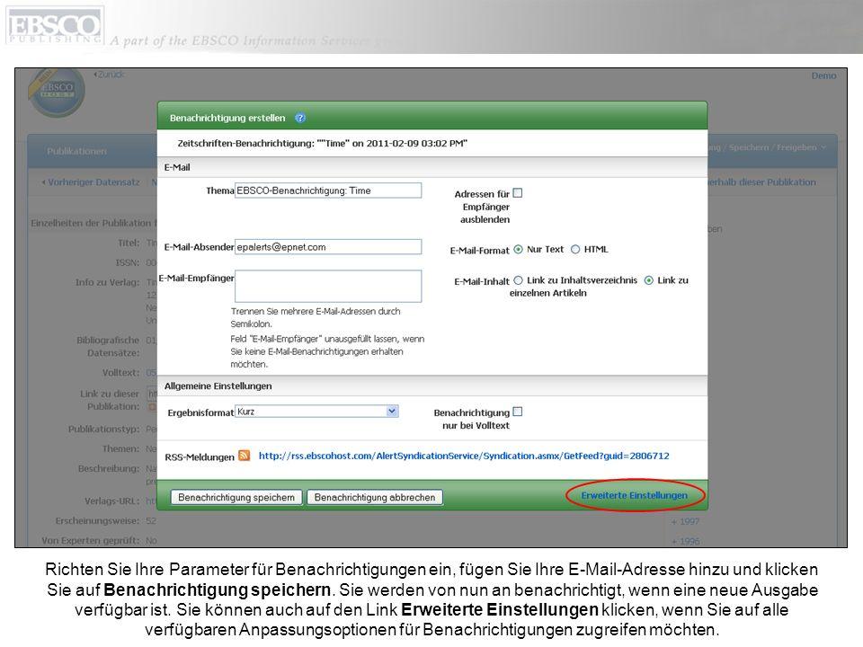 Klicken Sie auf den Link Hilfe, um das vollständige Online-Hilfesystem anzuzeigen.