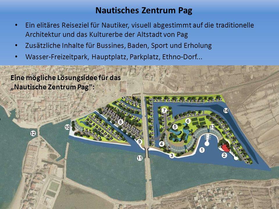 Nautisches Zentrum Pag Ein elitäres Reiseziel für Nautiker, visuell abgestimmt auf die traditionelle Architektur und das Kulturerbe der Altstadt von P