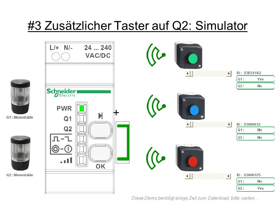 #3 Zusätzlicher Taster auf Q2: Simulator Diese Demo benötigt einige Zeit zum Datenload, bitte warten...