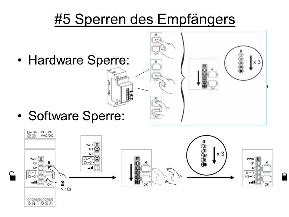 #5 Sperren des Empfängers Hardware Sperre: Software Sperre: