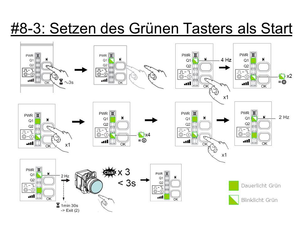 #8-3: Setzen des Grünen Tasters als Start Dauerlicht Grün Blinklicht Grün