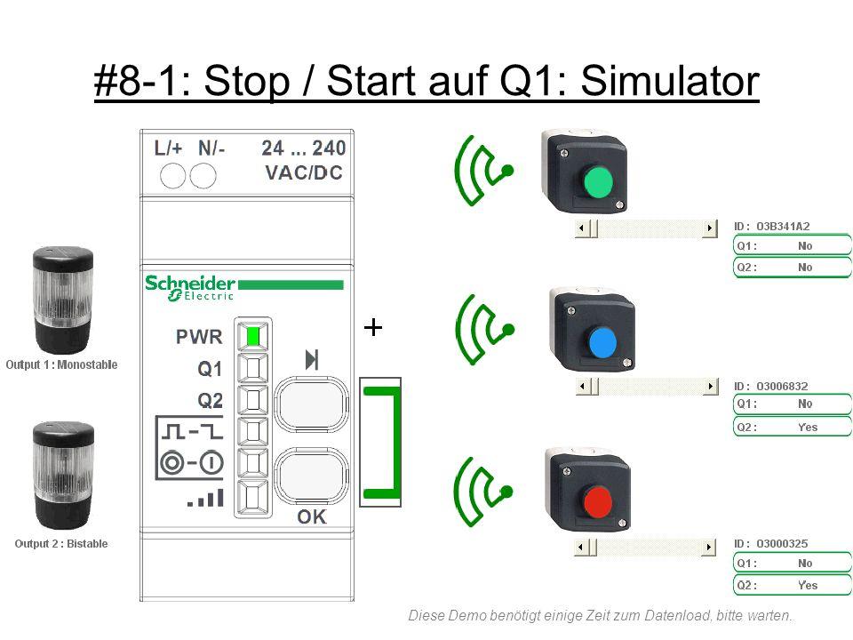 #8-1: Stop / Start auf Q1: Simulator Diese Demo benötigt einige Zeit zum Datenload, bitte warten.