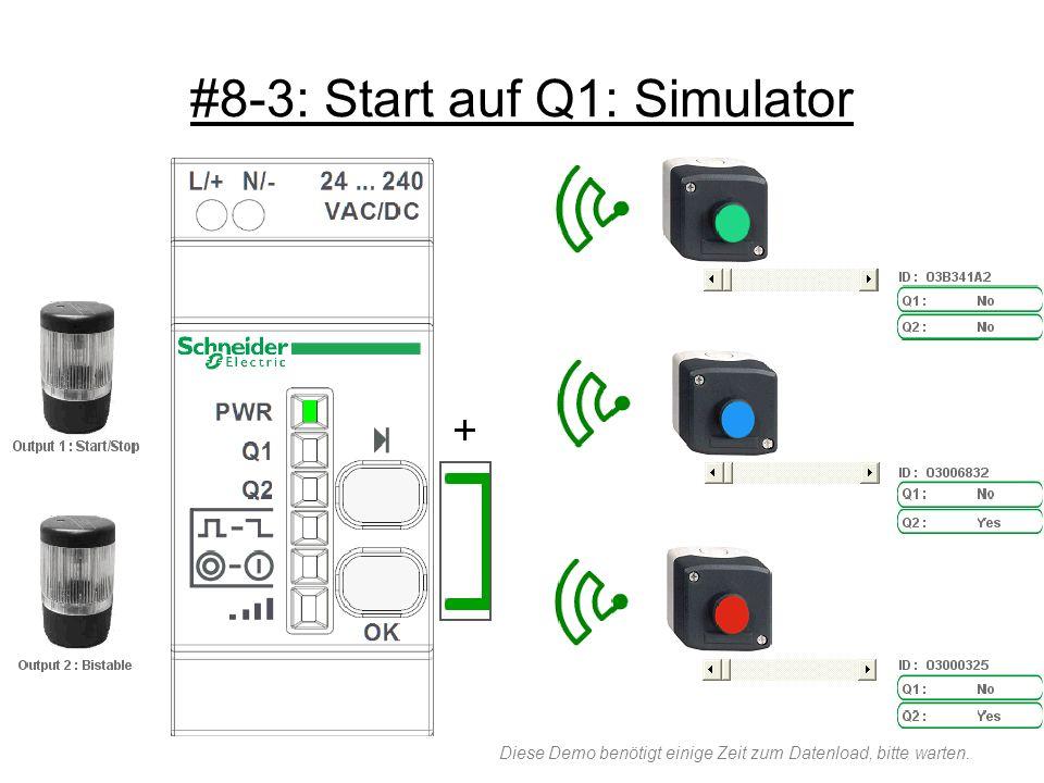 #8-3: Start auf Q1: Simulator Diese Demo benötigt einige Zeit zum Datenload, bitte warten.