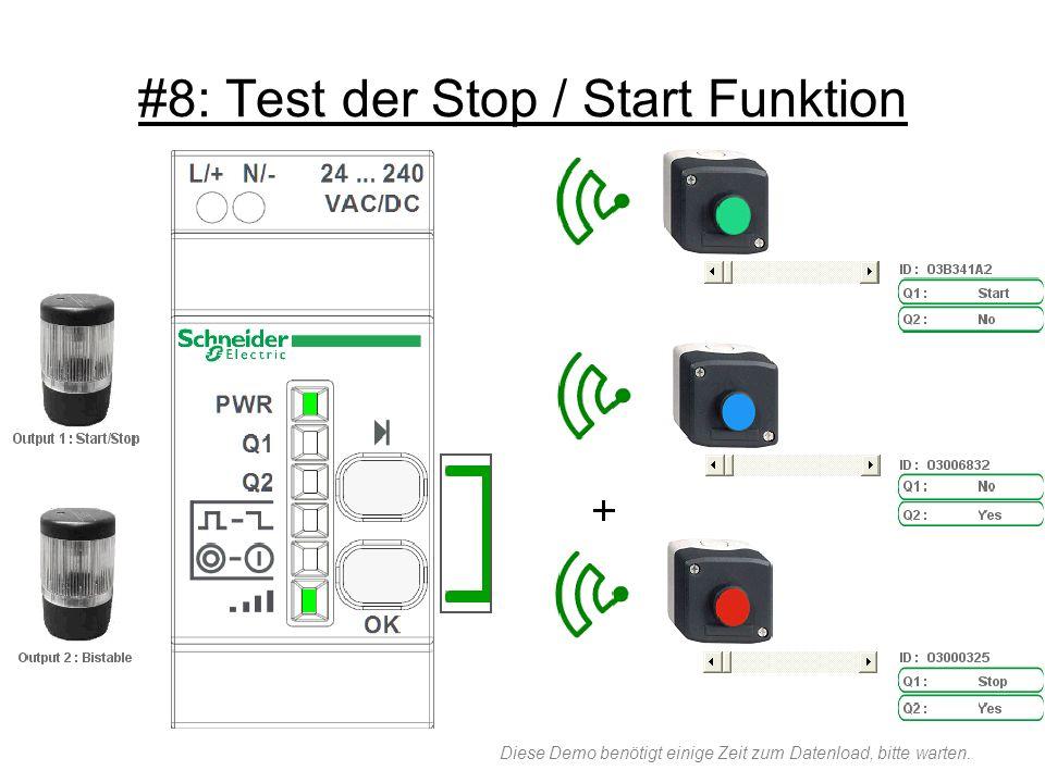 #8: Test der Stop / Start Funktion Diese Demo benötigt einige Zeit zum Datenload, bitte warten.