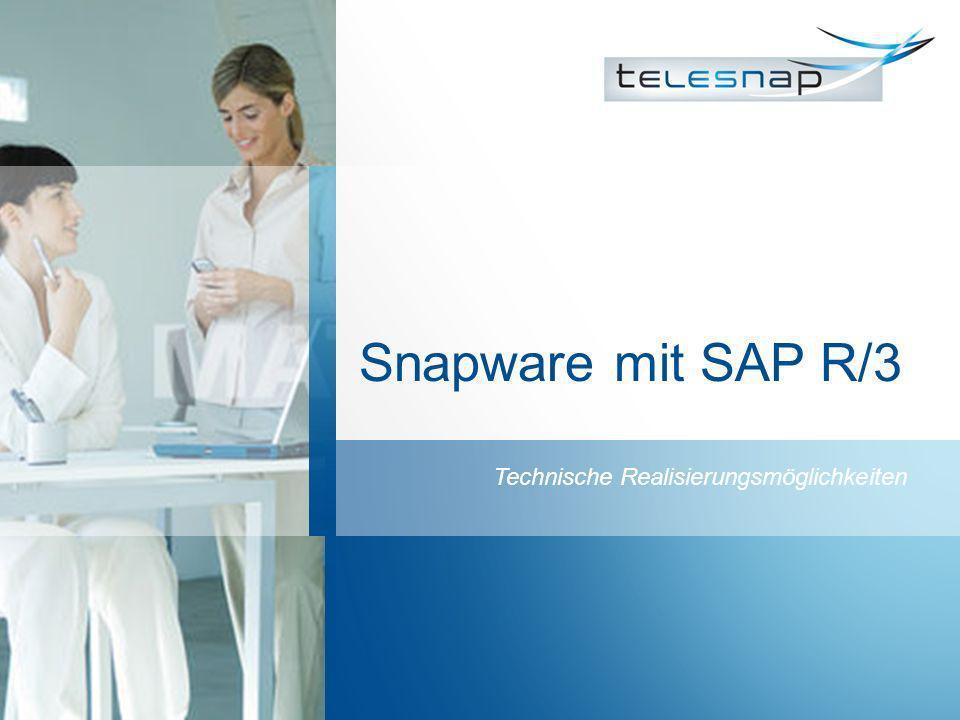 Snapware mit SAP R/3 Technische Realisierungsmöglichkeiten