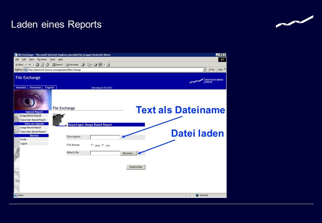 ? Bei Fragen zum Thema Reporting und File-Exchange kontaktieren Sie bitte fileexchange@deutsche-boerse.com +49-(0) 69-2 11-1 30 50 www.deutsche-boerse.com/mda Kontakt