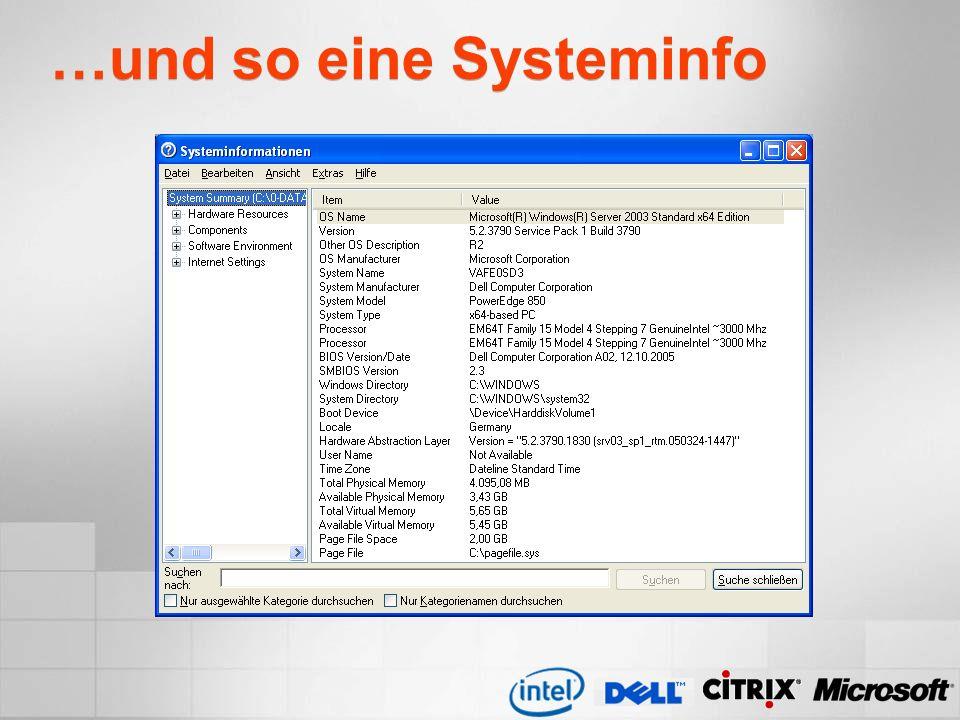 …und so eine Systeminfo