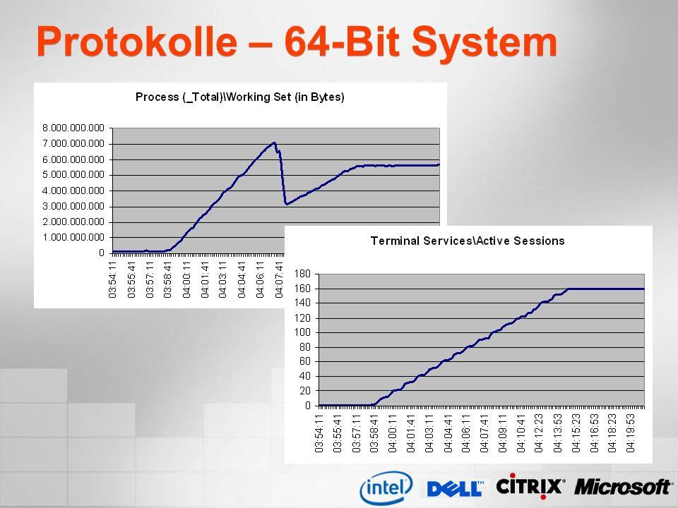 Protokolle – 64-Bit System