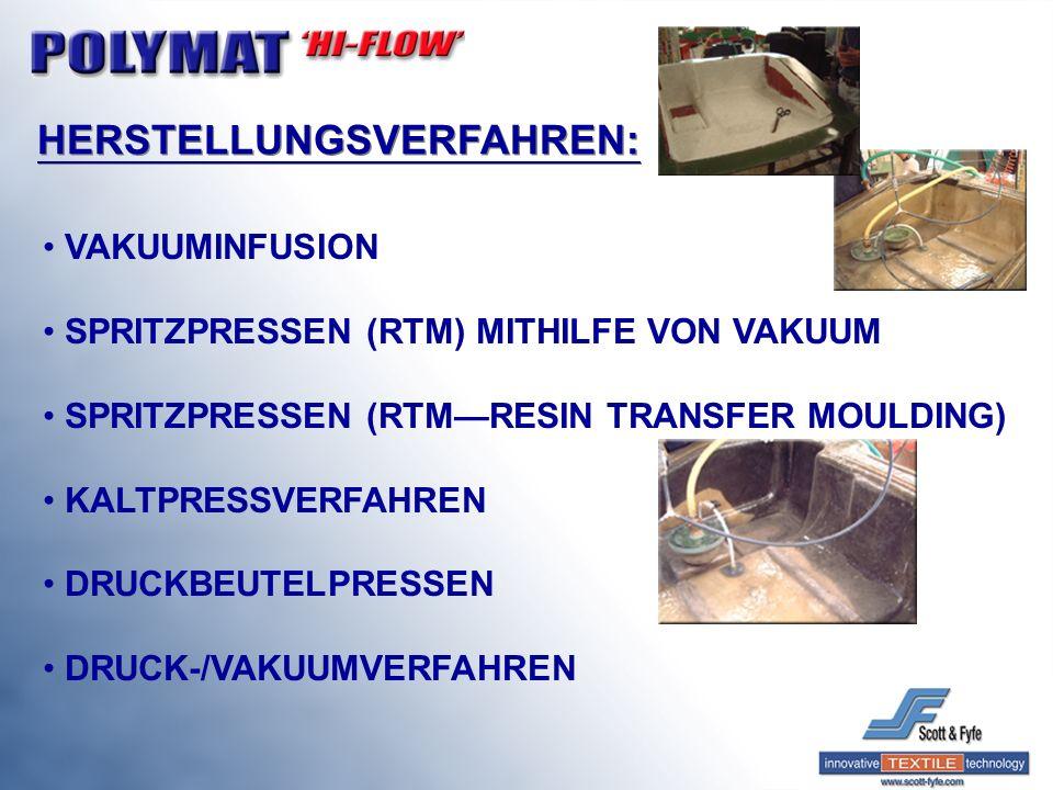 VAKUUMINFUSION SPRITZPRESSEN (RTM) MITHILFE VON VAKUUM SPRITZPRESSEN (RTMRESIN TRANSFER MOULDING) KALTPRESSVERFAHREN DRUCKBEUTELPRESSEN DRUCK-/VAKUUMV