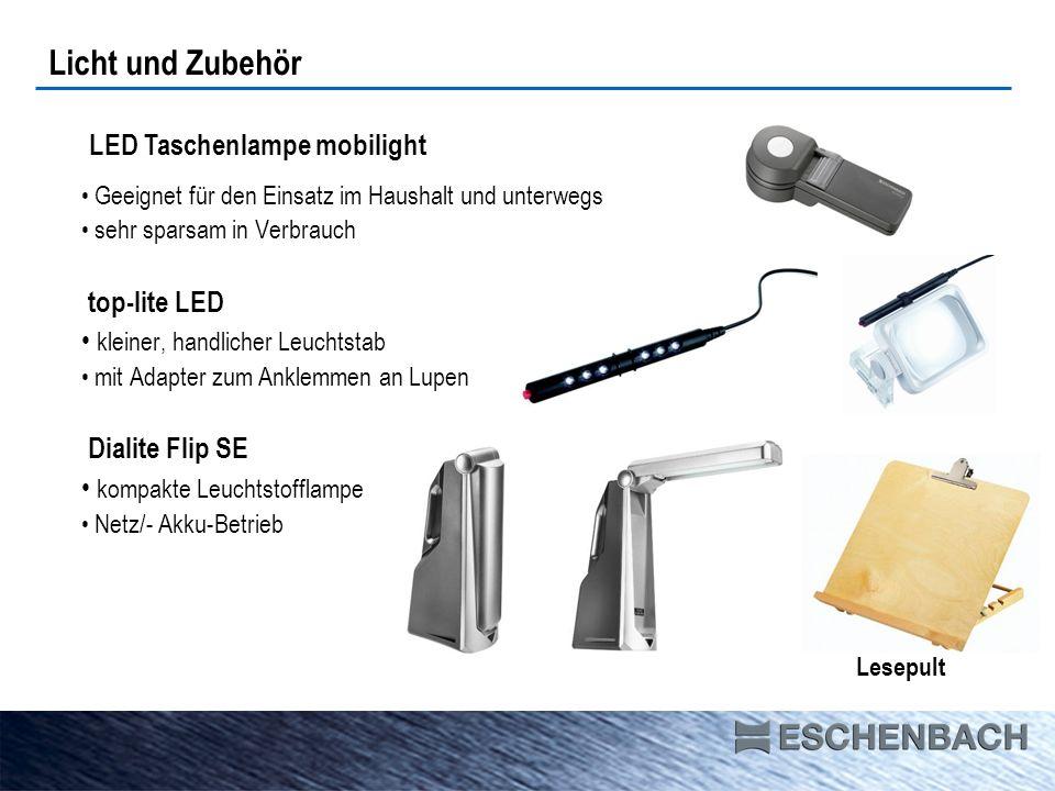 Geeignet für den Einsatz im Haushalt und unterwegs sehr sparsam in Verbrauch top-lite LED kleiner, handlicher Leuchtstab mit Adapter zum Anklemmen an