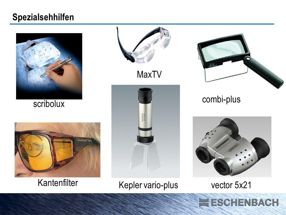 Spezialsehhilfen scribolux combi-plus Kantenfilter vector 5x21Kepler vario-plus MaxTV