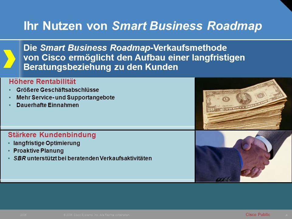 # Cisco Public © 2006 Cisco Systems, Inc. Alle Rechte vorbehalten. 2006 Ihr Nutzen von Smart Business Roadmap Die Smart Business Roadmap-Verkaufsmetho