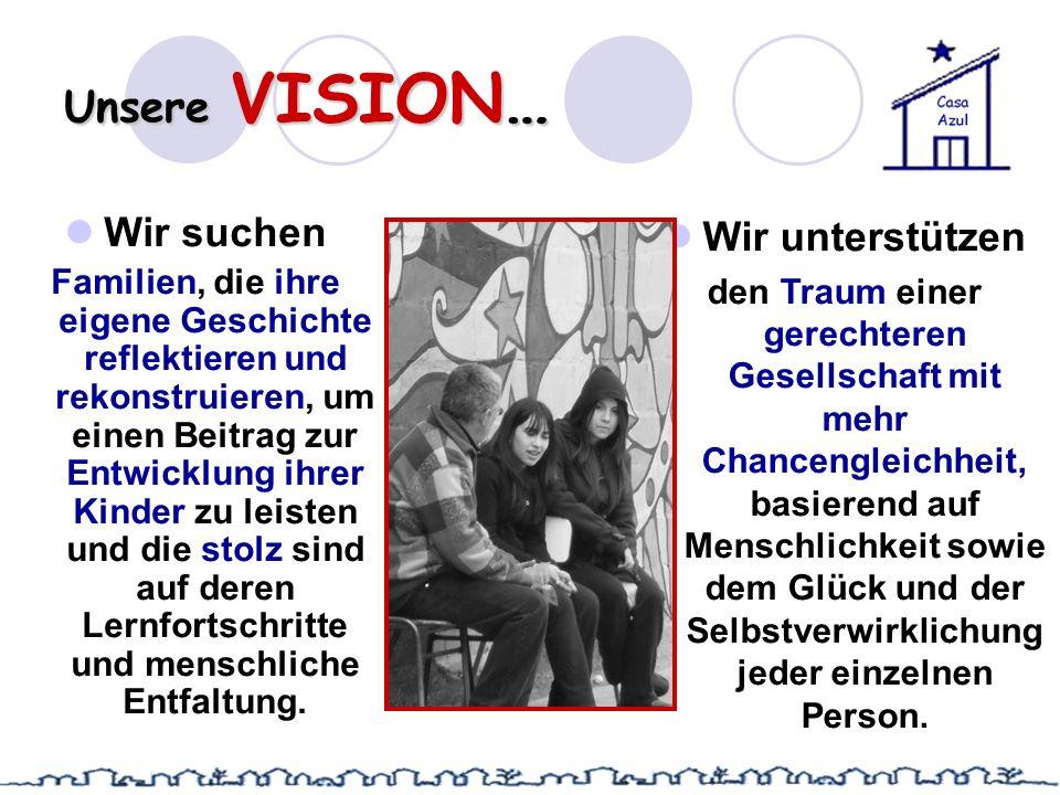Unsere VISION… Wir suchen Familien, die ihre eigene Geschichte reflektieren und rekonstruieren, um einen Beitrag zur Entwicklung ihrer Kinder zu leist