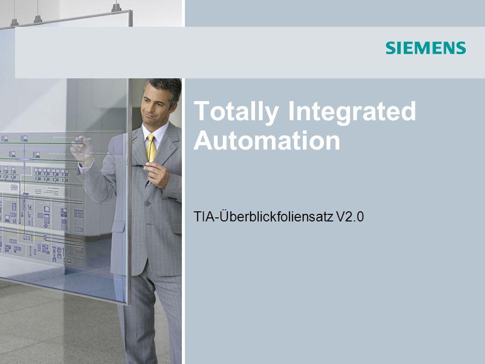 Totally Integrated Automation TIA-Überblickfoliensatz V2.0