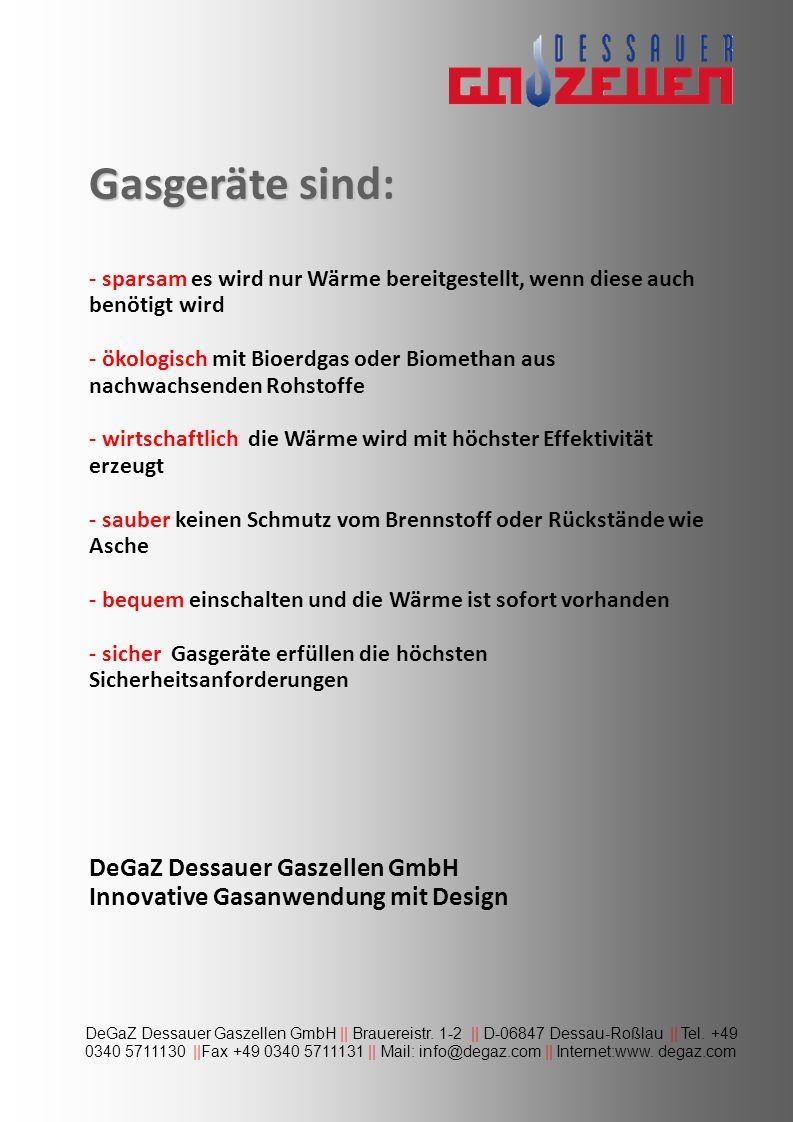 Gaskamin: Wittenberg Dessauer Gaszellen GmbH || Brauereistr.