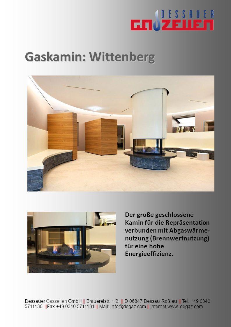 Gaskamin: Wittenberg Dessauer Gaszellen GmbH || Brauereistr. 1-2 || D-06847 Dessau-Roßlau || Tel. +49 0340 5711130 ||Fax +49 0340 5711131 || Mail: inf