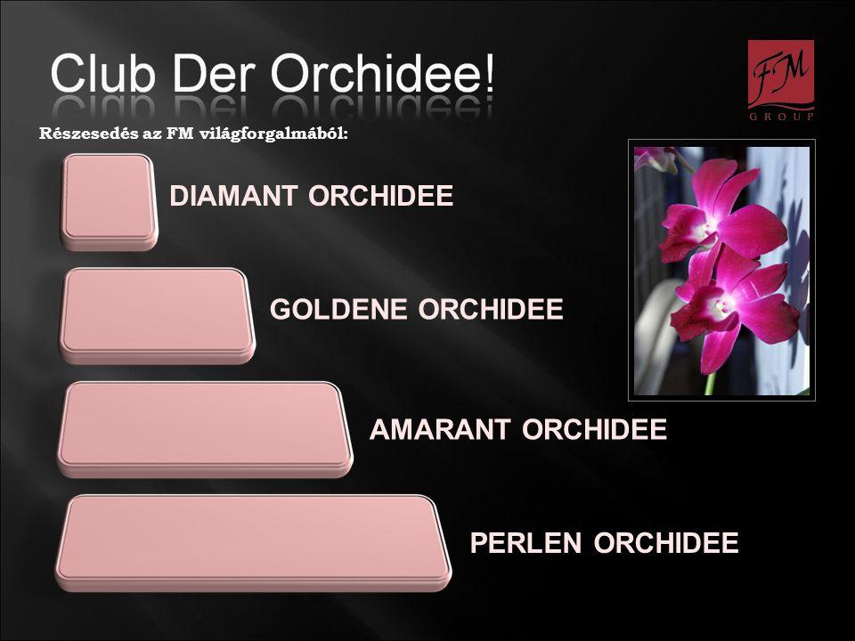 DIAMANT ORCHIDEE PERLEN ORCHIDEE GOLDENE ORCHIDEE AMARANT ORCHIDEE Részesedés az FM világforgalmából: