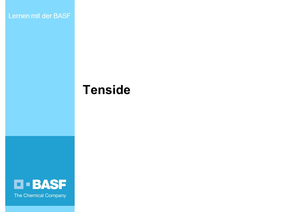 Tenside Lernen mit der BASF