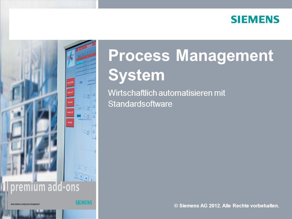 © Siemens AG 2012.Alle Rechte vorbehalten.