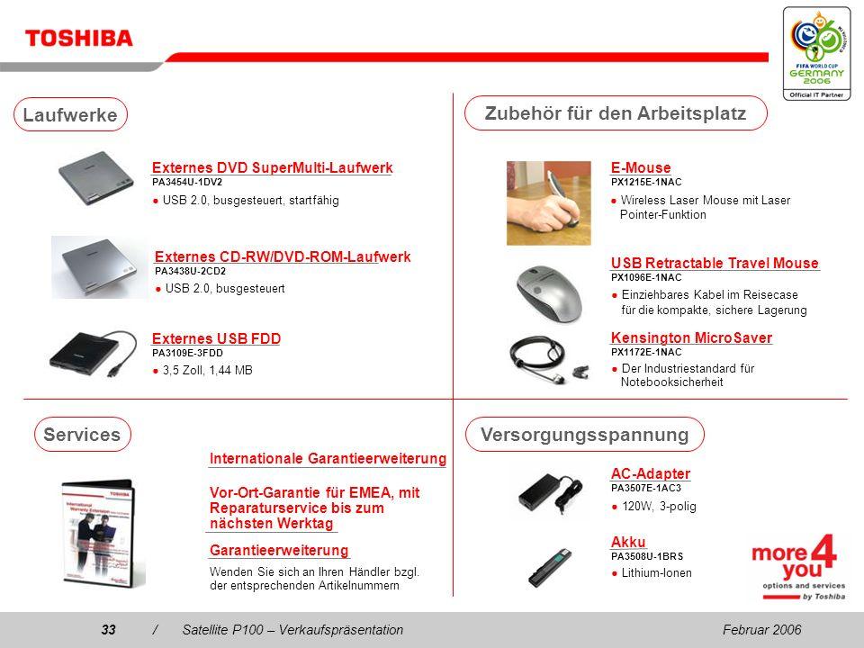 Februar 200632/Satellite P100 – Verkaufspräsentation USB DVB-T TV Tuner PX1211E-1TVD Frei zugängliches DVB-T- kompatibles Digital-TV (Antennenempfang)