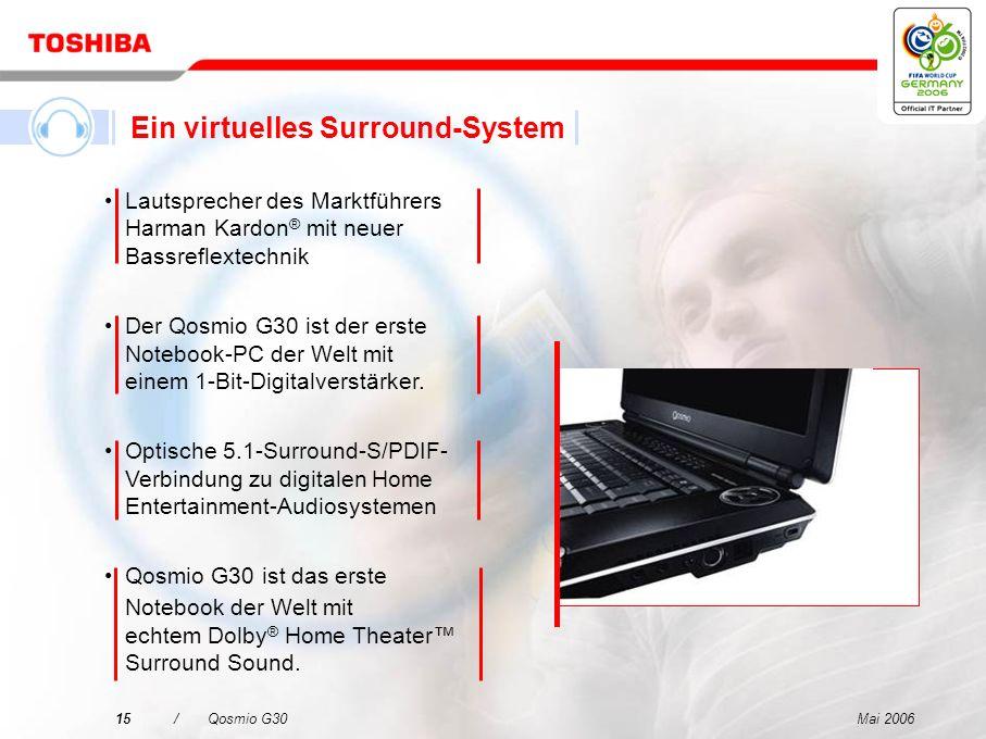 Mai 200614/Qosmio G30 Qosmio – Ihre 4-in-1-Lösung für digitale Unterhaltung und mobile Computertechnik Ein LCD-Fernseher Ein HDD/DVD-Rekorder Ein virt