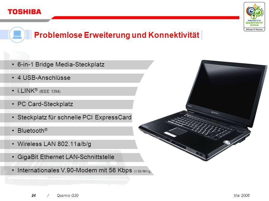 Mai 200623/Qosmio G30 NVIDIA ® GeForce ® Go 7600-Grafikprozessor 1. High Definition-Grafiken – unterstützen die neuesten Computerspiele 2. High Defini