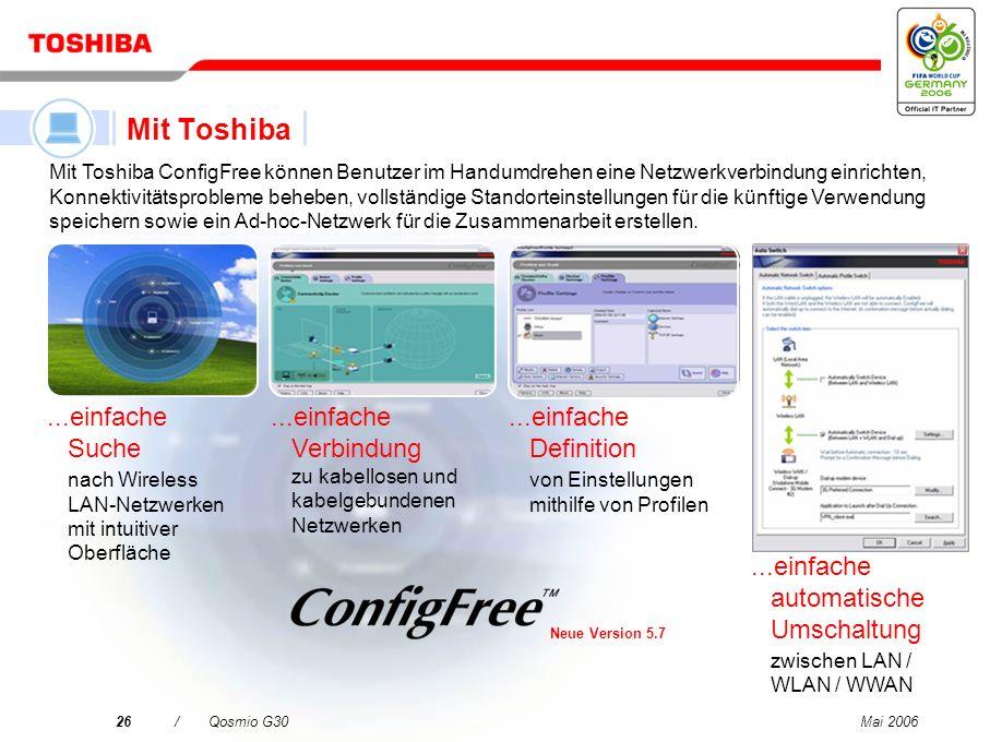 Mai 200625/Qosmio G30 Microsoft Office OneNote* 2003 Für die schnelle und einfache Notizenerstellung und Planung Sonic RecordNow! Sonic RecordNow! ist