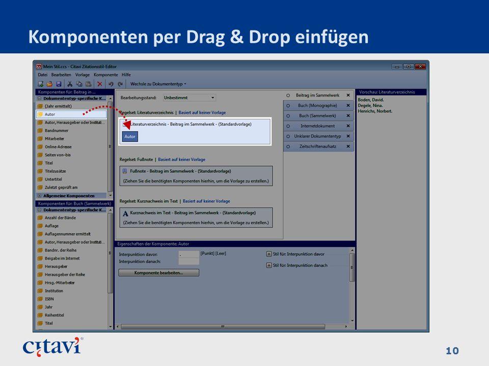 Komponenten per Drag & Drop einfügen 10