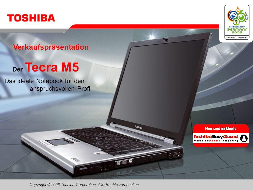 Februar 200631/Tecra M5 Toshiba ConfigFree – Neue Funktion: Automatischer Wechsel zwischen LAN/WLAN/WWAN …Leichte Handhabung Ein Fenster für die Netzwerkauswahl …Flexibel Sie können die Regeln für den automatischen Wechsel zwischen Netzwerken entsprechend des Benutzerverhaltens definieren …Leistungsstark Nahtloser Netzwerkwechsel: Es kann beispielsweise eine automatische DFÜ-Verbindung über eine Mobile Data/3G-Karte hergestellt werden, wenn keine LAN- oder WLAN-Verbindung mehr besteht …Professionell Automatischer Start eines VPN-Client oder einer anderen Anwendung über DFÜ Neue Version v5.7