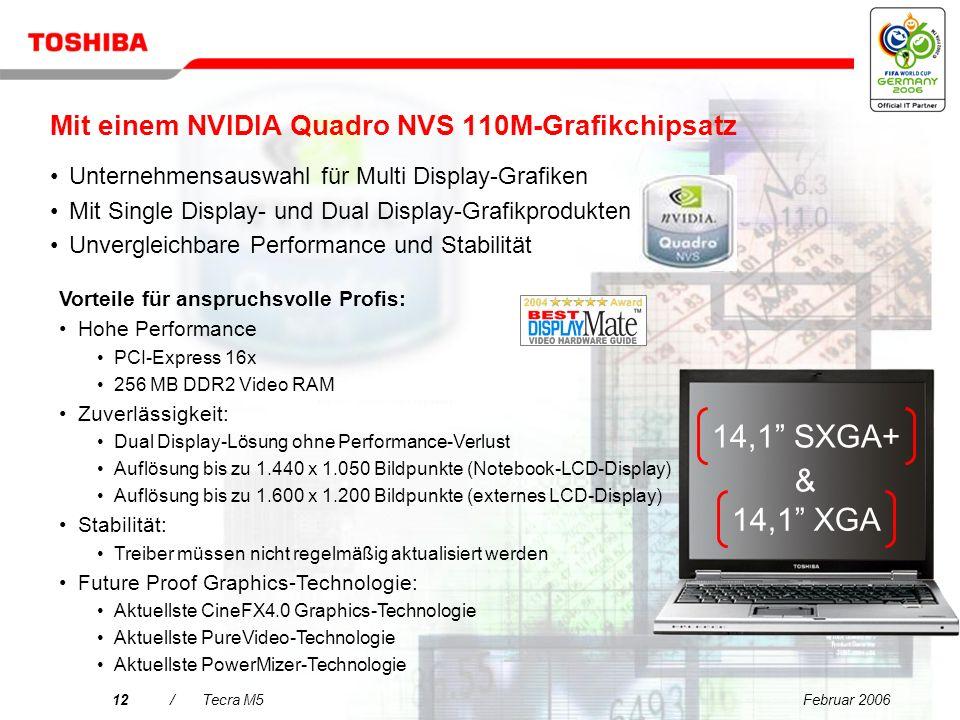 Februar 200611/Tecra M5 Intel ® Centrino ® Duo-Mobiltechnologie Vorteile für B2B Ich schaffe mehr in der gleichen Zeit. Größere Produktivität dank Dua