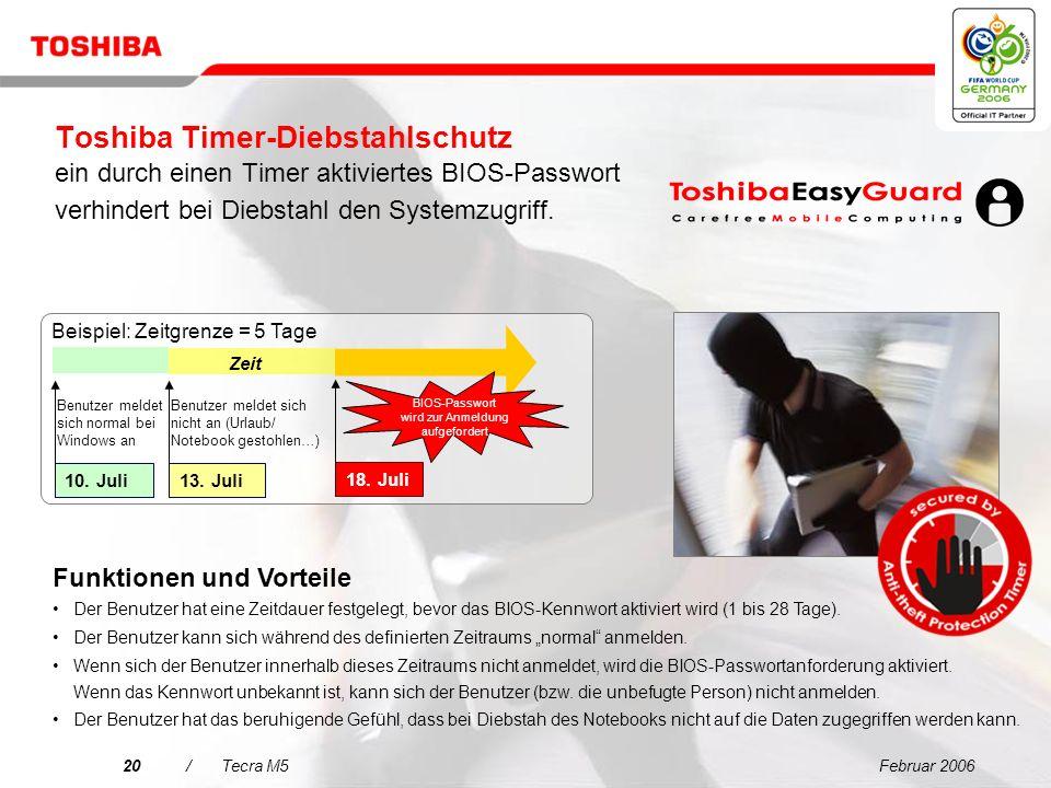 Februar 200619/Tecra M5 Fingerabdruckleser Single Sign-On Benutzerauthentifizierung Sicherer Zugriff (Single Sign-On), Auswahl, Start und Steuerung vo