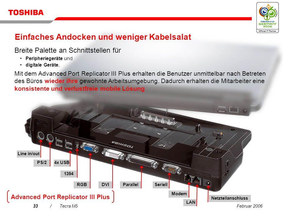 Februar 200632/Tecra M5 Toshiba Summit Effiziente kabellose Konferenzfunktionen – einschließlich gemeinsamer Dateinutzung und Chatfunktion zur Steiger