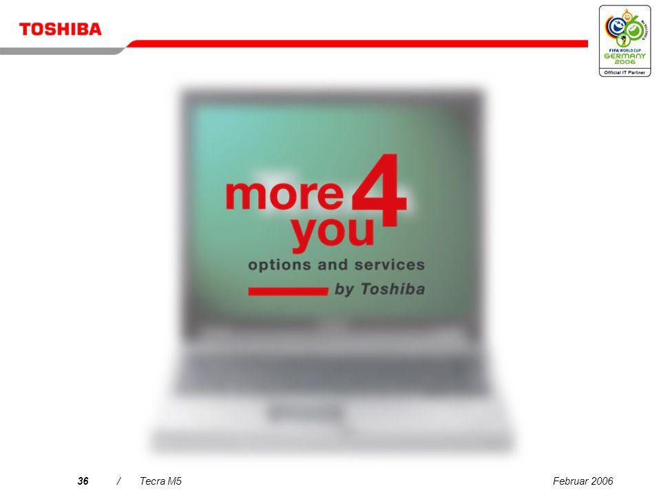 Februar 200635/Tecra M5 Prozessor/Technologie: Intel ® Centrino ® Duo-Mobiltechnologie mit Intel ® Core Duo processor T2400 (2 MB Cache, 1,83 GHz, 667